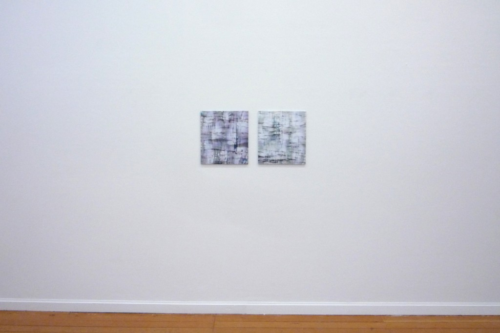 Installation view, both 45x40, 2014
